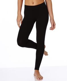 Women's Everyday Black Cotton Leggings. Super soft organic cotton basics in classic colors for any day of the week!