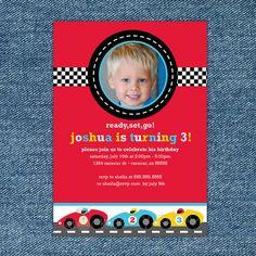 He encontrado este interesante anuncio de Etsy en https://www.etsy.com/es/listing/86126935/race-car-birthday-invitation-printable