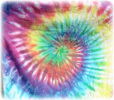 how to make a tie dye swirl