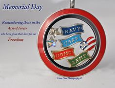 Origami Owl - Memorial Day Remembering those in the armed forces who gave their lives for our FREEDOM! carri.origamiowl.com