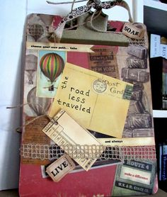 Altered Clipboard Decoupaged Collage Picture by musiqueetprose, $18.00