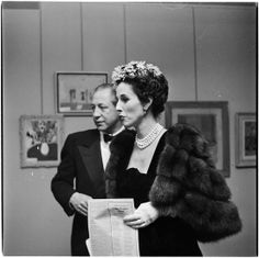 Mr. and Mrs. William Paley at an art show featuring celebrity art, photo by Arthur Rothstein, 1949
