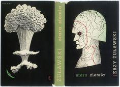 Book cover by Daniel Mróz. TRYLOGIA KSIĘŻYCOWA. STARA ZIEMIA. Kraków 1959, Wydawnictwo Literackie. Book Covers, Poland, Magazines, Posters, Illustration, Books, Inspiration, Poster, Journals