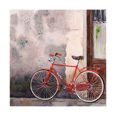 Bike Art Watercolor Painting Men Women by WatercolorByMuren, $28.00