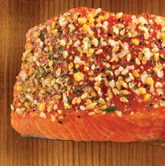 Planked Alaska Salmon with Sol-I-Mar Rub features quite the combination of herbs and spices to bring out the most in salmon fillets or steaks.