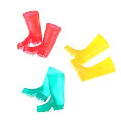 8pcs 1//12 Miniature Dollhouse Plastic Boots House Garden Decoration Dolls Accs