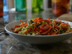 Get Damaris Phillips's Zucchini Noodle Salad Recipe from Food Network