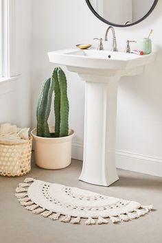 Shop Crochet Sun Bath Mat at Urban Outfitters today. Boho Bathroom, Bathroom Rugs, Bath Rugs, Modern Bathroom, Small Bathroom, Bathroom Ideas, Bathroom Showers, Bathroom Inspiration, Bathroom Canvas