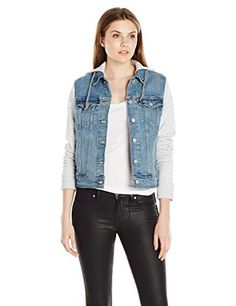 Levi's Women's Legacy Hybrid Trucker Jacket, Ocean Sail (99% Cotton, 1% Elastane), Medium - Brought to you by Avarsha.com