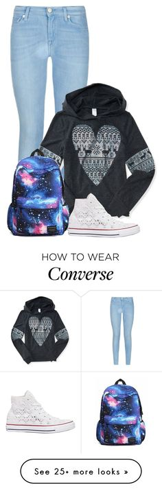 """""""Almost on break"""" by mallory-fashion on Polyvore featuring 7 For All Mankind, Aéropostale and Converse"""