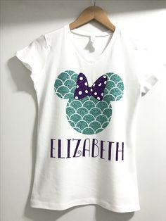 Little Mermaid... Vinyl shirt... Disney trip... Disney