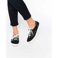 Keds Champion Canvas Black & White Sneaker Shoes (1,340 MXN) ❤ liked on Polyvore featuring shoes, sneakers, black, canvas sneakers, black and white sneakers, black and white shoes, black trainers and canvas shoes