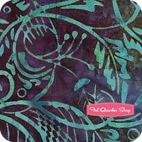 Mosaic Batavian Batiks Purple and Teal Stylized Grass Yardage SKU# 22094-647