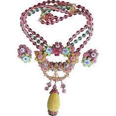 Vintage Ian St.Gielar Stanley Hagler statement necklace and earrings
