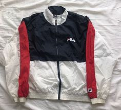 51508d7d4484f Vintage Fila Windbreaker Jacket 90s Hip Hop Rare large color block spell  out #FILA #