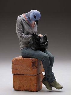 Alessandro Gallo's Animal Human Hybrid Sculptures (via Beautiful/Decay)