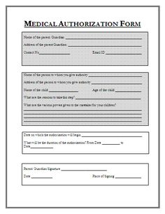 Free Medical Form Templates Shiza Mayoor Shizamayoor On Pinterest