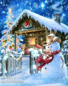 Winter Christmas Scenes, Christmas Scenery, Christmas Village Display, Christmas Nativity Scene, Christmas Tree Themes, Christmas Music, Merry Christmas Wallpaper, Merry Christmas Gif, Magical Christmas