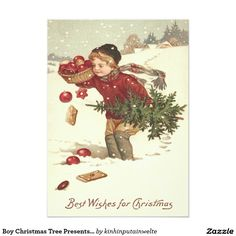 Lovely Vintage Christmas Illustration Postcard Designs Gift Ideas and Decorations Vintage Christmas Images, Old Christmas, Old Fashioned Christmas, Victorian Christmas, Retro Christmas, Vintage Holiday, Christmas Pictures, Christmas Greetings, Christmas Postcards