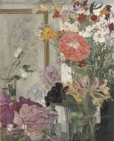 Floral symphony, Gerrit Haverkamp. (1872 - 1926)