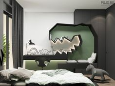 Study Room Design, Room Interior Design, Kids Room Design, Apartment Interior, Furniture Design, Kids Bedroom Designs, Boy Room, Bedroom Decor, Behance