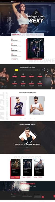 """""""GymClub – Gym & Fitness PSD Template"""" is a modern PSD theme designed mainly for Sport Clubs, Health Clubs, Gyms, Fitness Centers, Personal Trainers and other sport and health related clubs and it ..."""