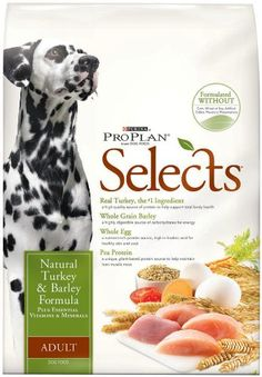 Purina Pro Plan Selects Dry Adult Dog Food, Natural Turkey and Barley Formula, 6-Pound Bag « DogSiteWorld-Store