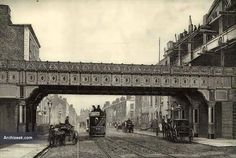 1891 – Railway Bridge, Westland Row, Dublin When under construction the tracks on platforms 1 and 2 in the station had to be inclined to make the bridge. Ireland Pictures, Old Pictures, Old Photos, Dublin Street, Dublin City, Ireland Facts, Photo Engraving, Ireland Vacation, Irish Celtic