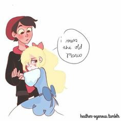 Star realized it ain't the real world. It is an AU of her real world! She wants Marco back! *whispers*love each other