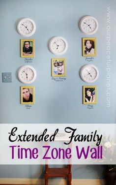 Family Time Zone Clock Wall