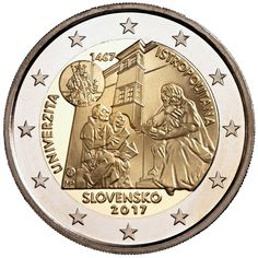 Detailed images and information about coin series Commemorative 2 euro coins. Bratislava, Billet En Euros, Euro Währung, Piece Euro, Timbre Collection, World Aids Day, Euro Coins, Gold And Silver Coins, Coins For Sale