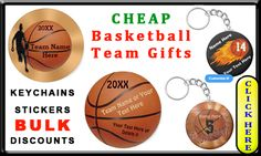 Cheap Basketball Team Gifts for Boys, most can be personalized. Cool Flaming Personalized Keychains are my best selling cheap basketball team gifts. All Personalized Basketball Gifts CLICK HERE: http://www.zazzle.com/littlelindapinda/gifts?cg=196808750908670951&rf=238147997806552929  ALL of Little Linda Pinda Designs CLICK HERE: http://www.Zazzle.com/LittleLindaPinda*/  Customizable Basketball Stickers make great senior night gift ideas along with basketball party favors. Customize it or…