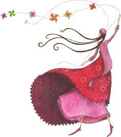 View album on Yandex. Art Carte, Creation Art, Children's Book Illustration, Whimsical Art, Beautiful Paintings, Love Art, Painting Inspiration, Female Art, Watercolor Paintings