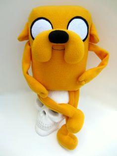Jake the Dog Large Plush Doll Adventure Time Jake by Plushimi