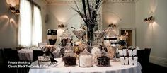 Black & White Wedding Lolly Buffet - The Candy Buffet Company Lolly Buffet, Candy Buffet Tables, Candy Table, Buffet Ideas, Dessert Buffet, Dessert Tables, Candy Bar Wedding, Wedding Desserts, Wedding Favors