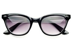 Retro Vintage Fashion Wayfarer Cat Eye Style Sunglasses (Black) by Retro. $9.95. Premium Quality. Frame Width:  140mm. Retro Style Sunglasses. Frame Height: 45mm. 100% 400UV Protection. Retro fashion style wayfarer sunglasses with gray lenses in black or tortoise frame. Great, classy style!