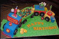 sesame street train cake!