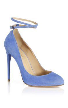 Blue Daiquiri Pump by Aquazzura for Preorder on Moda Operandi