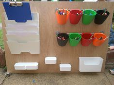 Outside writing area – Childcare Eyfs Classroom, Classroom Layout, Classroom Organisation, Outdoor Classroom, Eyfs Outdoor Area, Outdoor Play Areas, Playground Games, Indoor Playground, Art Room Posters