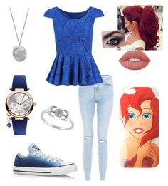 """""""Untitled #143"""" by xox-calumsgxrl on Polyvore featuring Converse, Disney, Lime Crime, Karen Kane and Vivienne Westwood"""