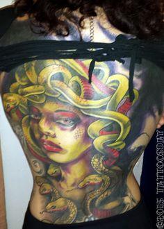 Tattoosday (A Tattoo Blog): Grace's Medusa  http://tattoosday.blogspot.com/2015/06/graces-medusa.html