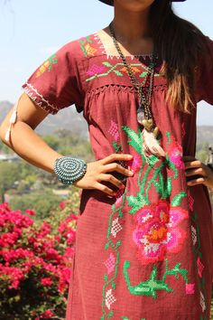 WOWZA VERY Detailed Cross Stitched Embroidery Vintage Mexican Hand Embroidered Bohemian Maxi Dress