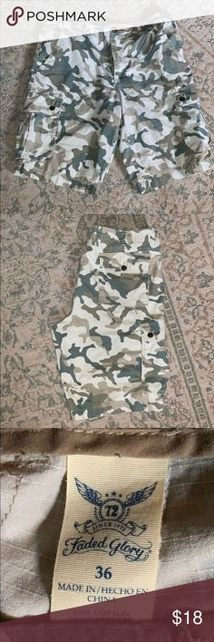 a7a6ab6197 Camo cargo shorts. 36w. Great camouflage cargo shorts. Rarely worn; like new