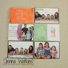 Jenna Watkins / Scrapbooking Global Blog Hop - August 2018 #jennawatkinscraftycorner #stampinup #memories&more Scrapbooking Layouts, Scrapbook Pages, Book Layout, Project Life, Family Photos, Stampin Up, Corner, Memories, Crafty