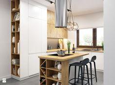 Kuchnia z drewnianymi akcentami - zdjęcie od WOSMEBL Rzeszów Meble na wymiar