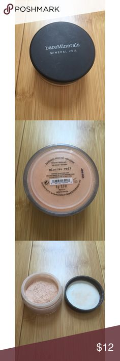 bareMinerals Mineral Veil bareMinerals original Mineral Veil, full size. Like new! No box and seal is off but it hasn't been used,  full! bareMinerals Makeup Face Powder