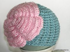 Crochet Newborn Flower Hat Crochet Baby Girl Hat Photo