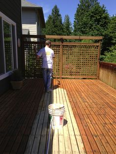 Tips on refinishing your own deck Deck Refinishing, Front Deck, Fence, Outdoor Decor, House, Image, Tips, Home Decor, Decoration Home