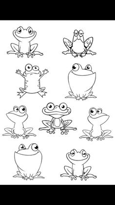 Good Free Animal Crafts frog Popular Papers dish family pets are a great youngs. - Good Free Animal Crafts frog Popular Papers dish family pets are a great youngsters art idea. Doodle Drawings, Easy Drawings, Doodle Art, Simple Animal Drawings, Drawing Sketches, Colouring Pages, Coloring Books, Frog Drawing, Arts And Crafts House