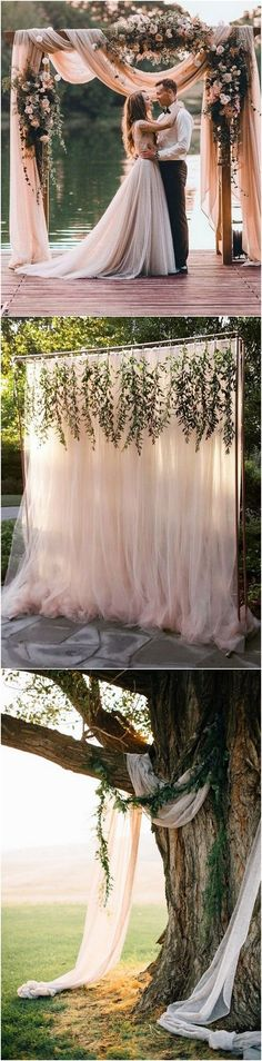 boho chic wedding arch and backdrop decoration ideas